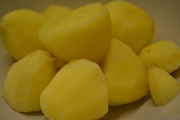 Cooked duck potatoes
